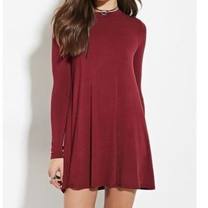 Maroon T-shirt Dress Size Small - Forever 21